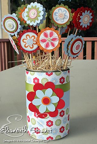 Chocolate flower tin